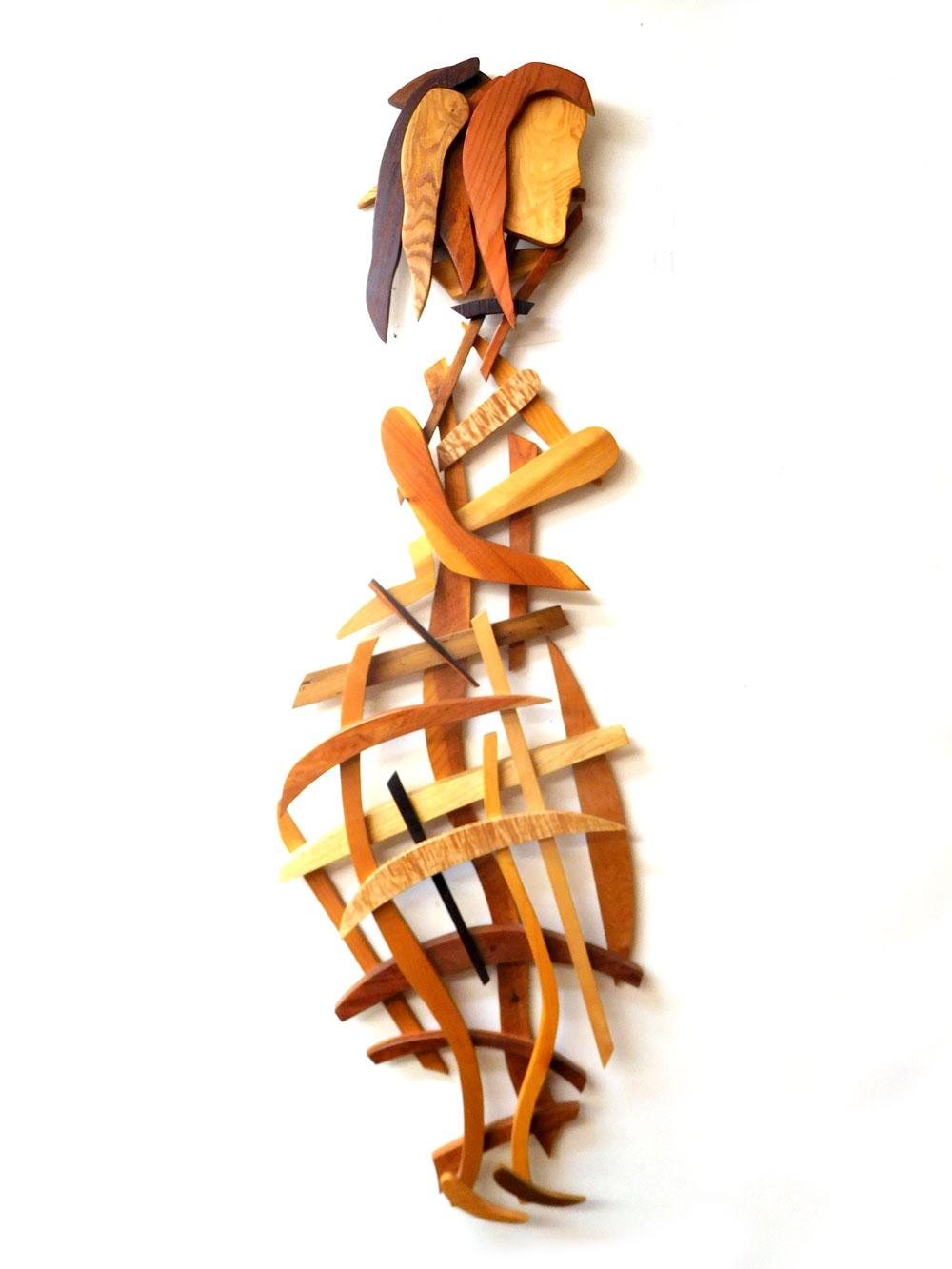 GABRIELA Wooden Wall Sculpture